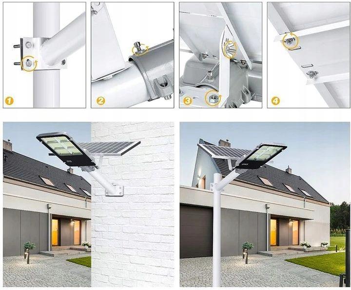 SOLARNA LAMPA ULICZNA LED JD-6120HL 300W Waga produktu z opakowaniem jednostkowym 5 kg