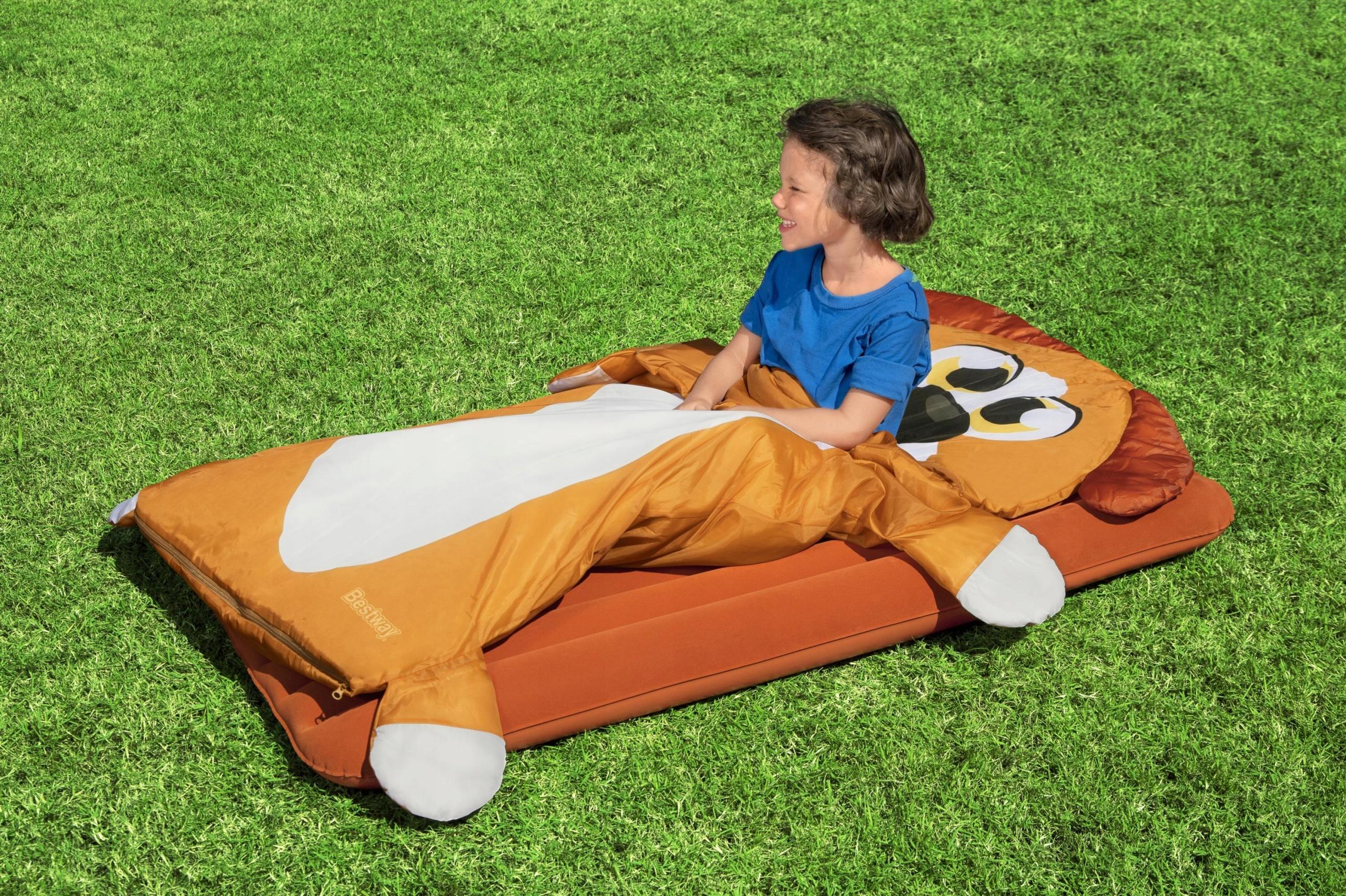 MATERAC DMUCHANY +ŚPIWÓR dla dzieci PIESEK BESTWAY Marka Inna marka