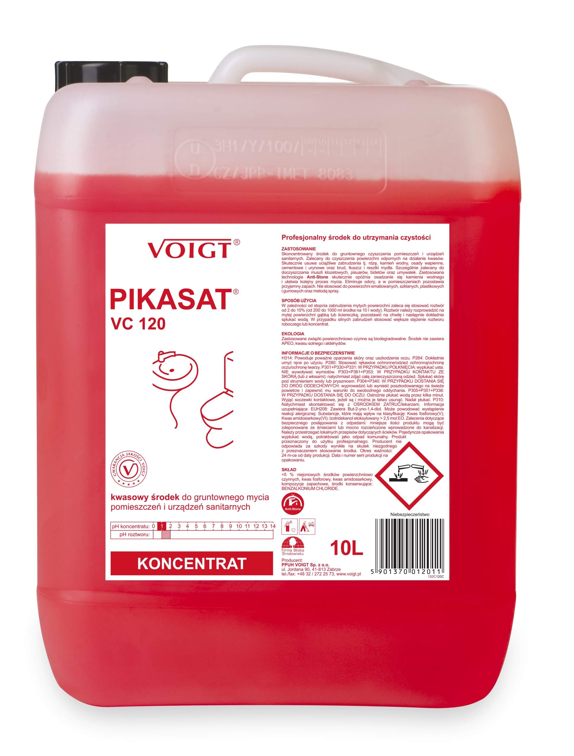 Voigt PIKASAT VC 120 do urządzeń sanitarnych 10 L 9398217734 - Allegro.pl