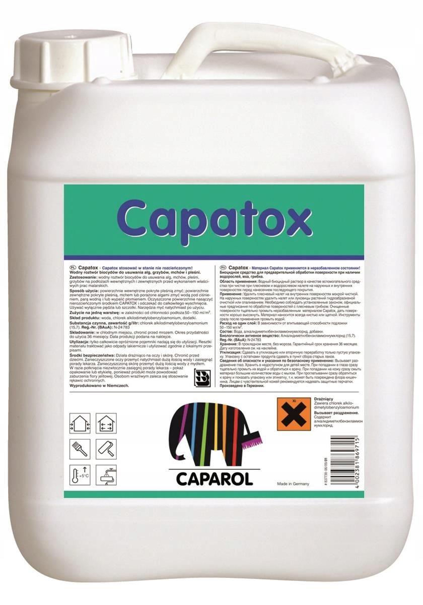 Środek do usuwania glonów na elewacji Capatox 5l.