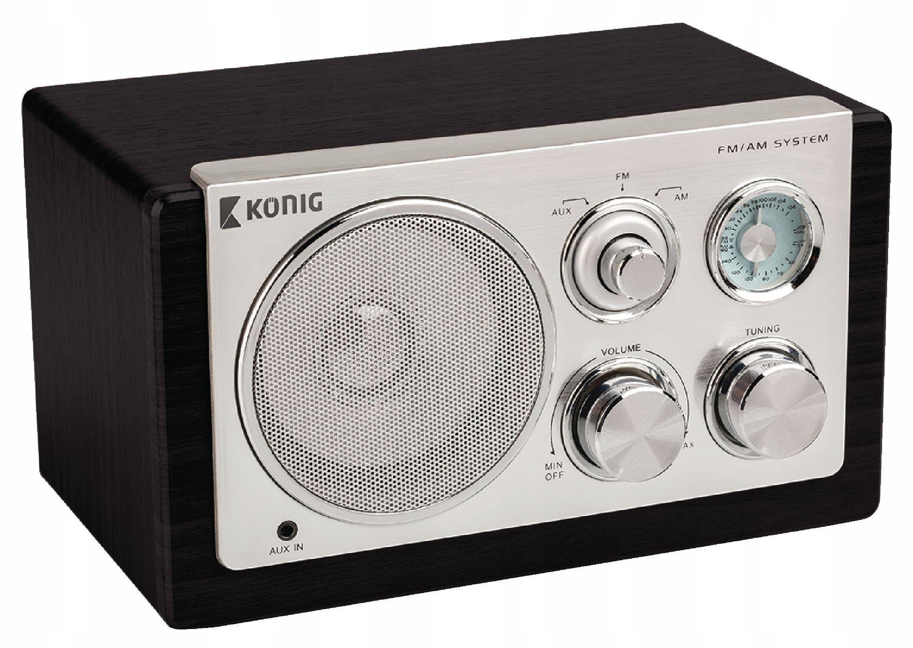 Nemecký retro rádio König HAV-TR1100