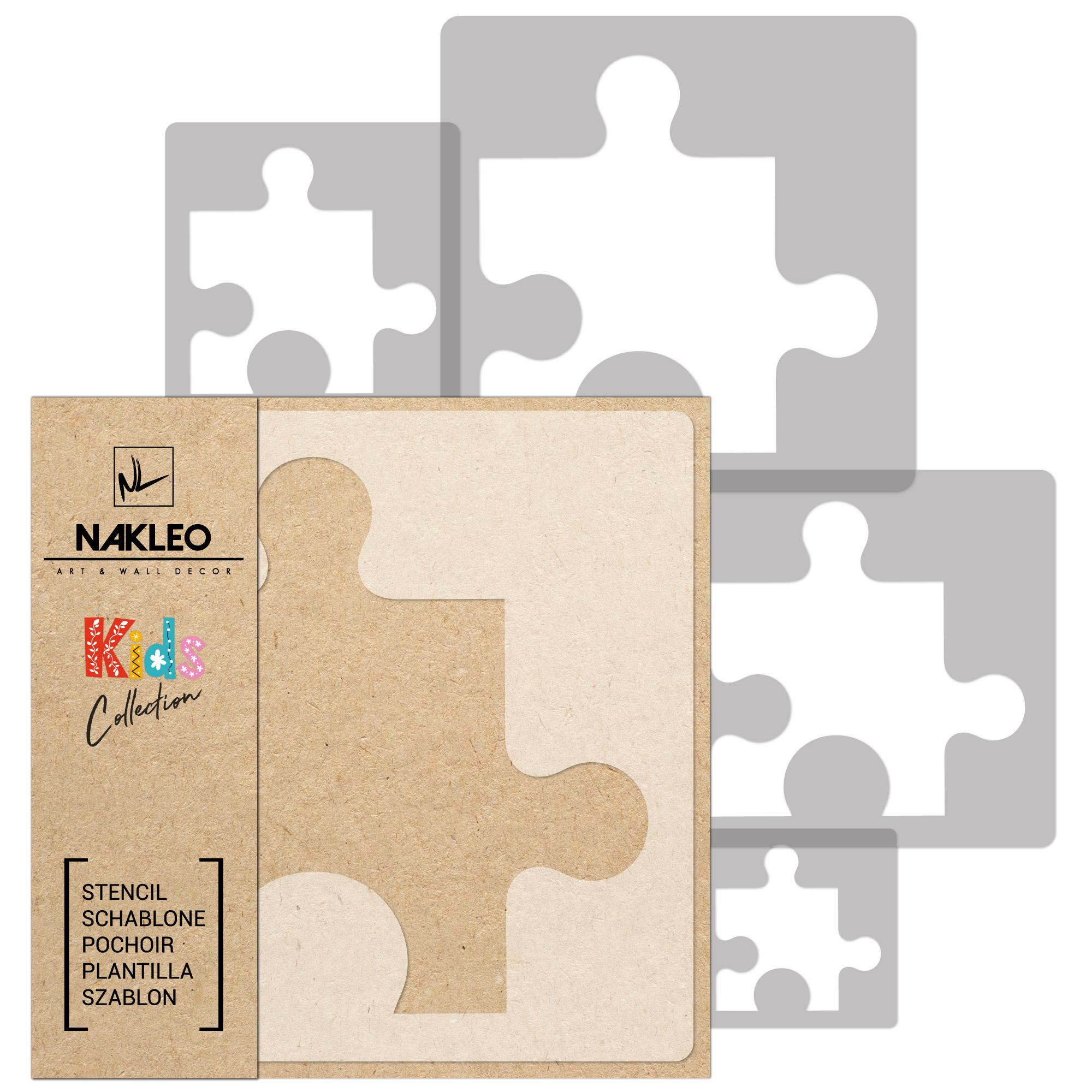 Szablony Malarskie Wielorazowe 5 Szt Puzel Puzzle 7587621362 Allegro Pl