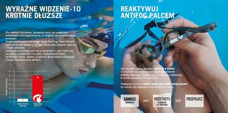 ARENA okulary pływackie COBRA ULTRA SWIPE B-B-B Płeć kobieta mężczyzna dziewczynka chłopiec