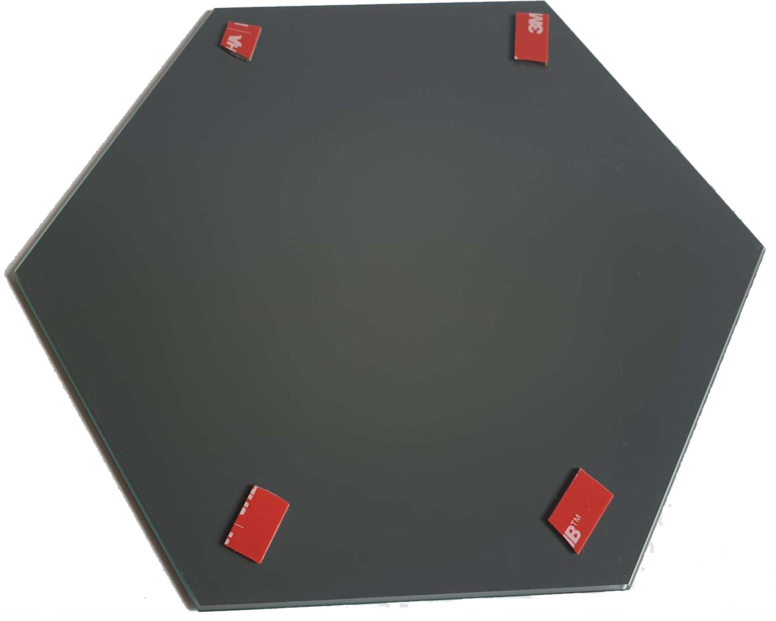 Lustro Czarne Dekoracyjne Heksagon Samoprzylepne Typ lustra ścienne