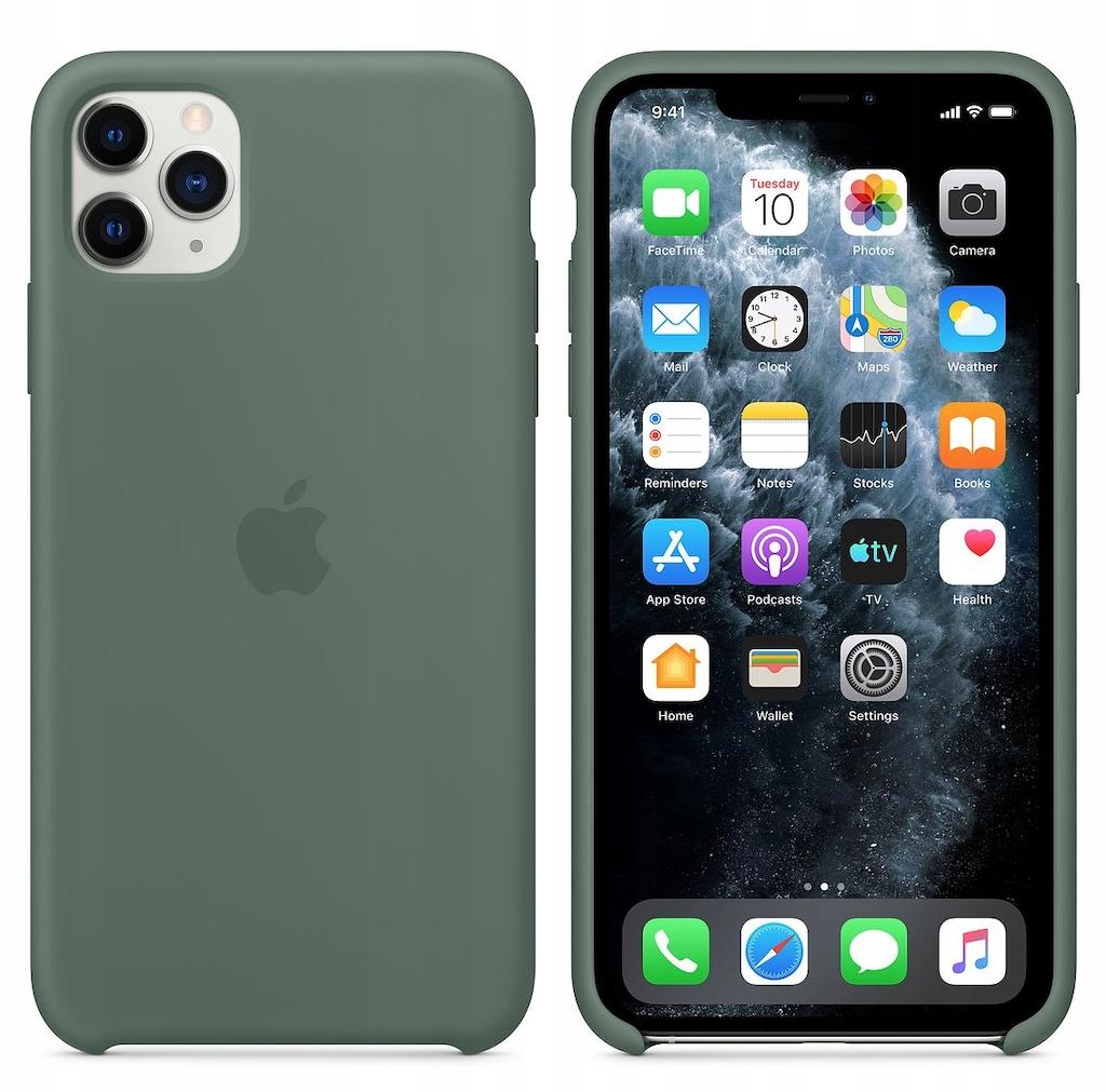 Etui silikonowe iPhone 11 Pro Max (Pine green)