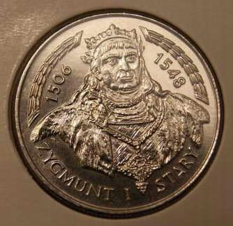Монета 20000 злотых Зигмунт I Старый 1994 монетный двор