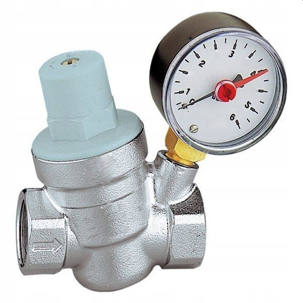 Редуктор давления воды 3/4 с манометром на 6 бар