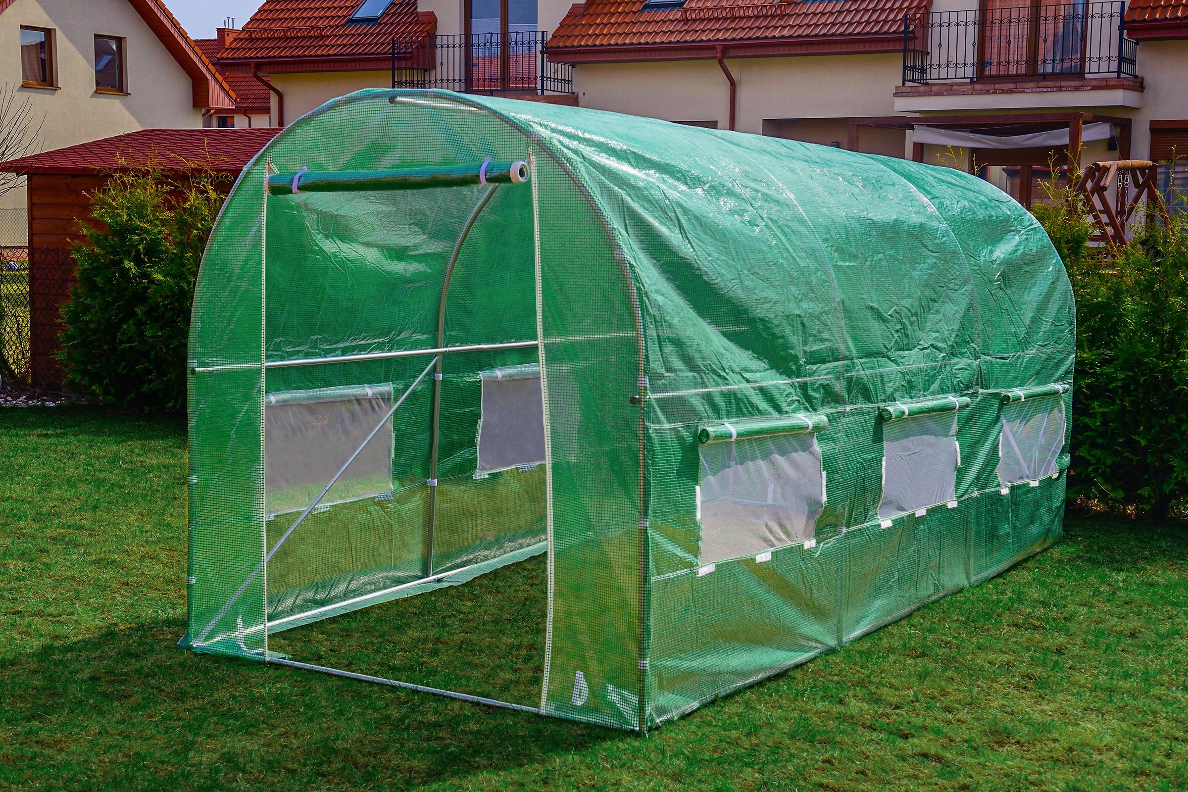 FÓLOVÝ TUNEL 7m2 ZAHRADA GREENHOUSE 3,5x2m UV-4 Výrobca Funfit Garden