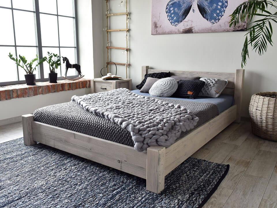 Drevená posteľ Krajiny-new-27 - 140 cm RETRO
