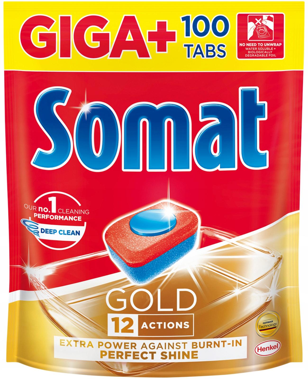 Somat Gold Таблетки для Посудомоечной машины Giga 100шт