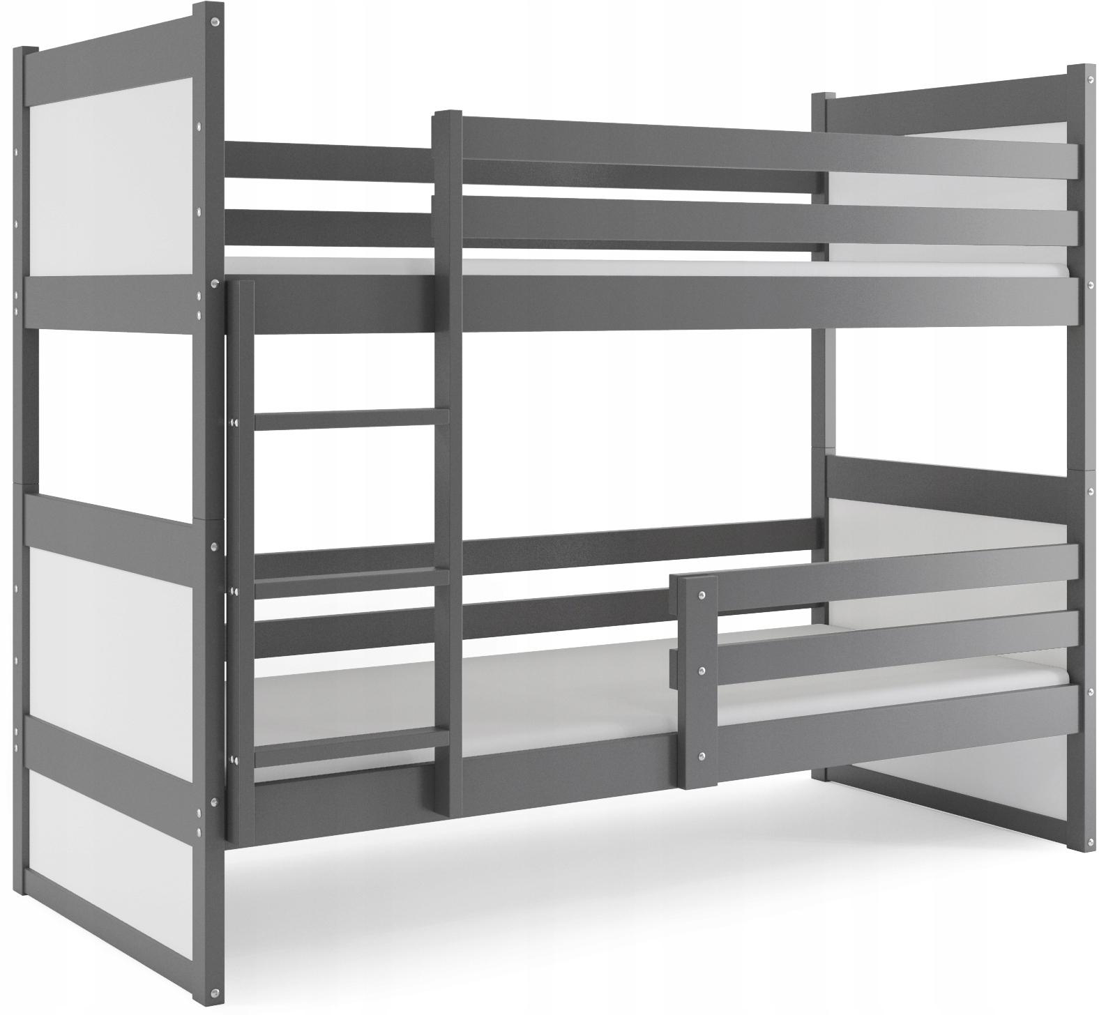 Łóżko piętrowe dla dzieci RICO 200x90 + MATERACE