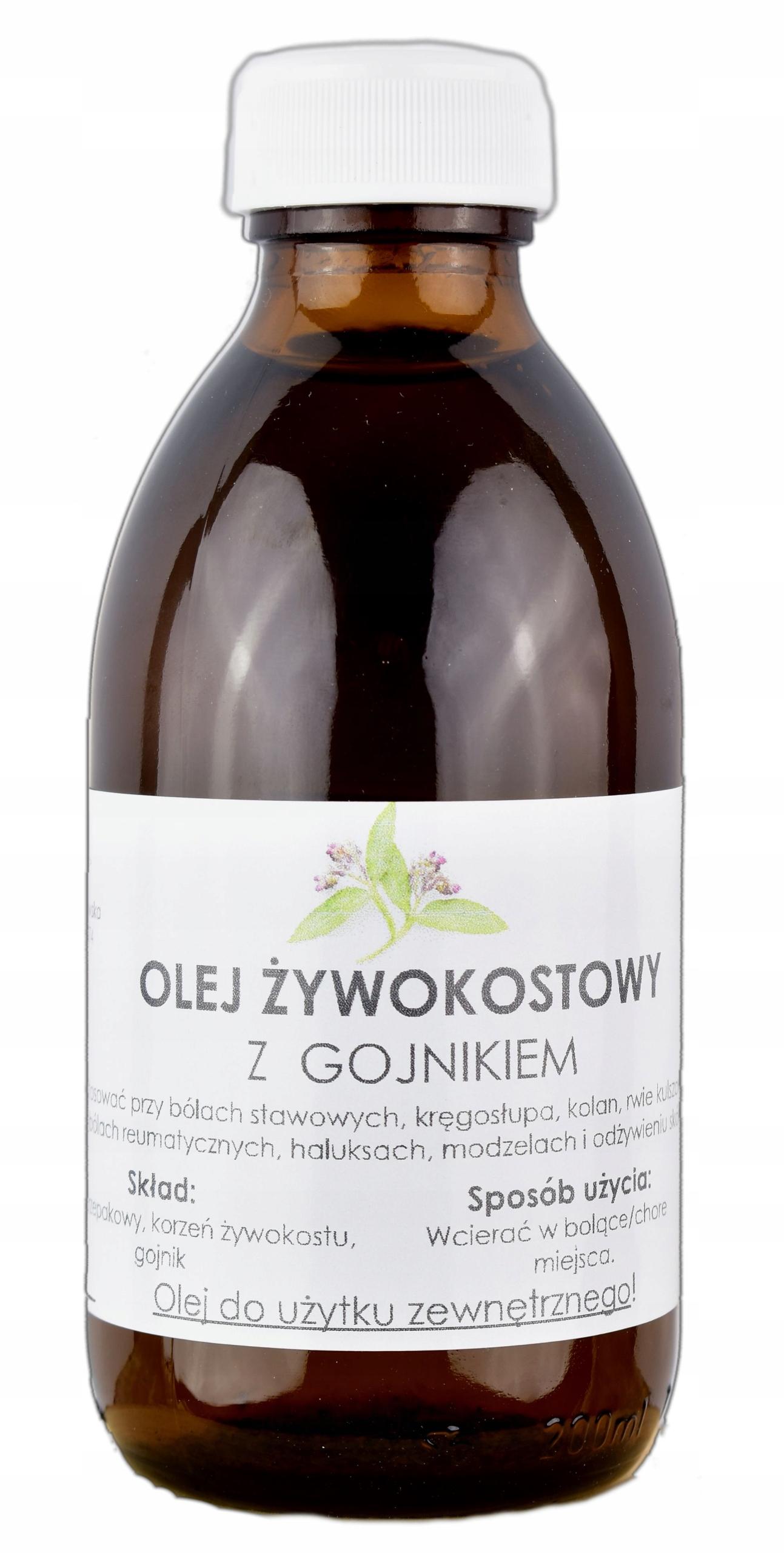Olej żywokostowy z Gojnikiem na BÓLE STAWOWE 200ml
