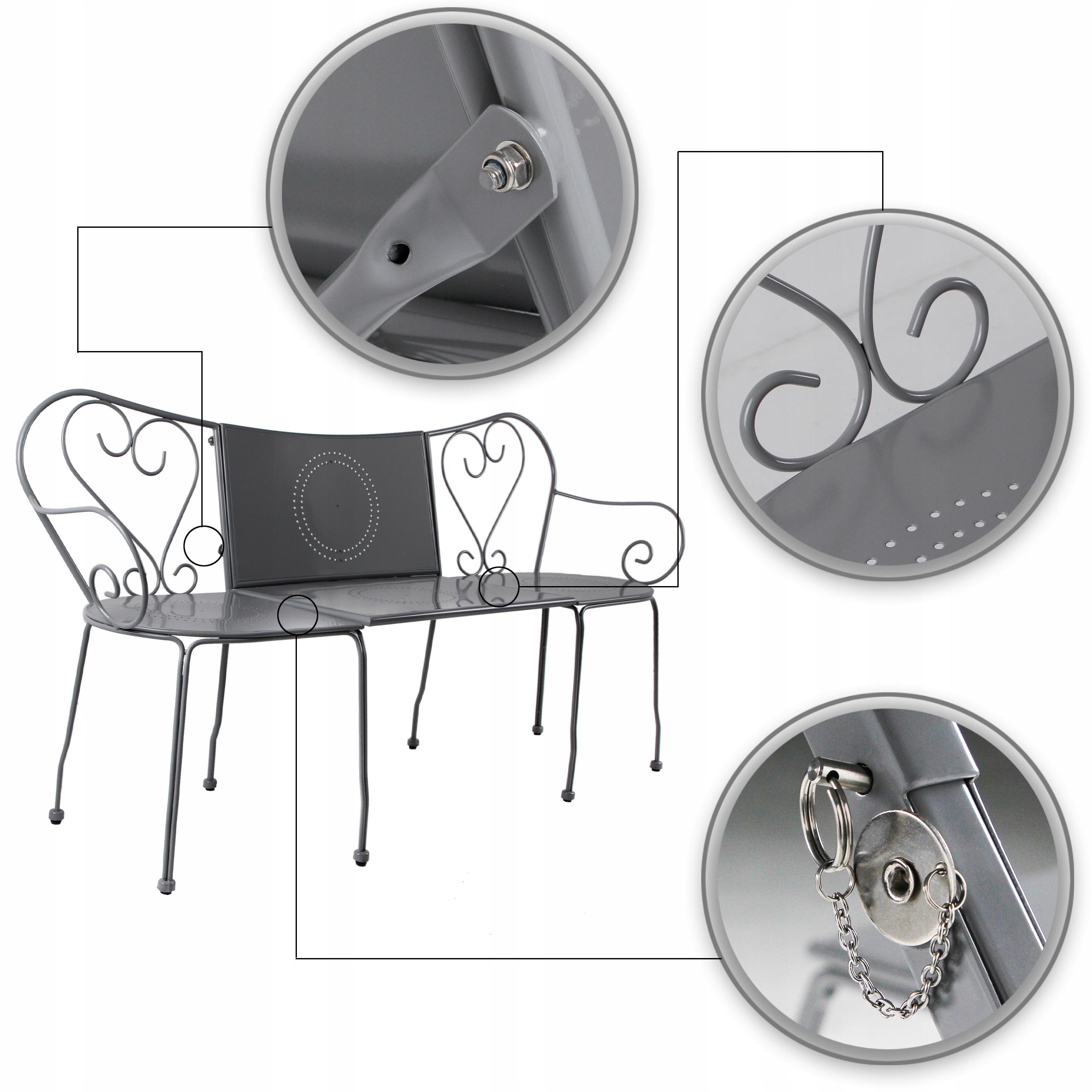 Záhradný nábytok Sada stoličkových stoličiek 3v1 v tradičnom štýle