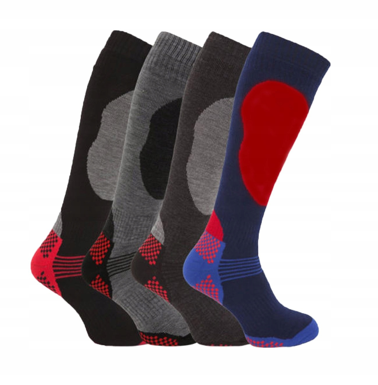 4 páry vysoko výkonných termo ponožiek pre mužov