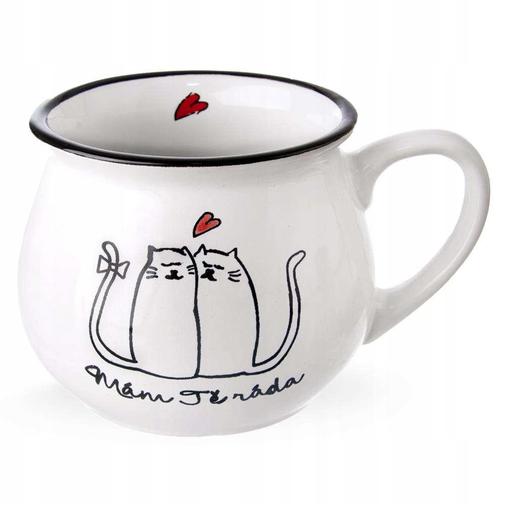 Kubek ceramiczny KOTY kotki 320 ml do kawy herbaty