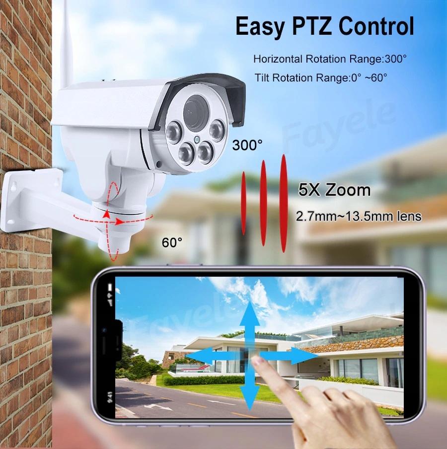 Kamera obrotowa na karte SIM IP LTE GSM 4G 5X ZOOM Klasa szczelności kamery IP66