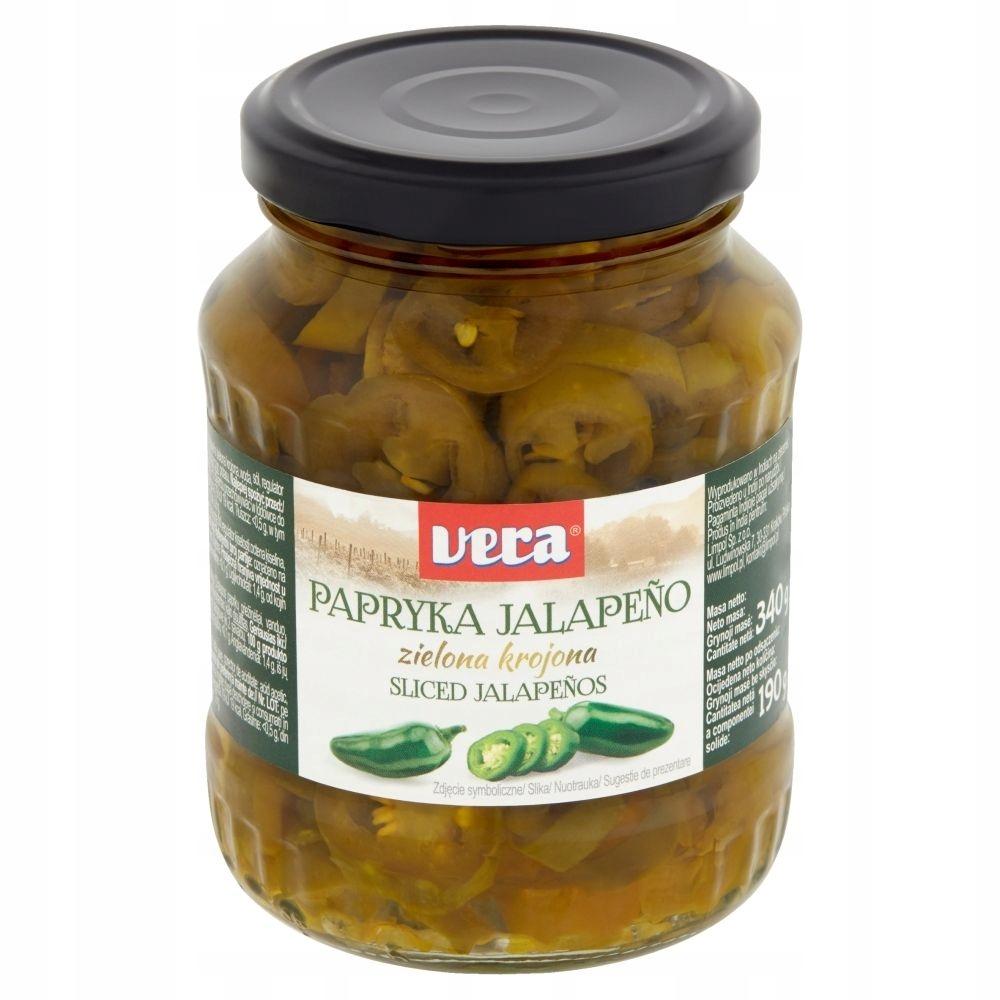 Vera Papryka Jalapeño zielona krojona 340 g