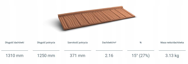 GERARD CORONA Dachówka z posypką wulkaniczną Kod produktu 1