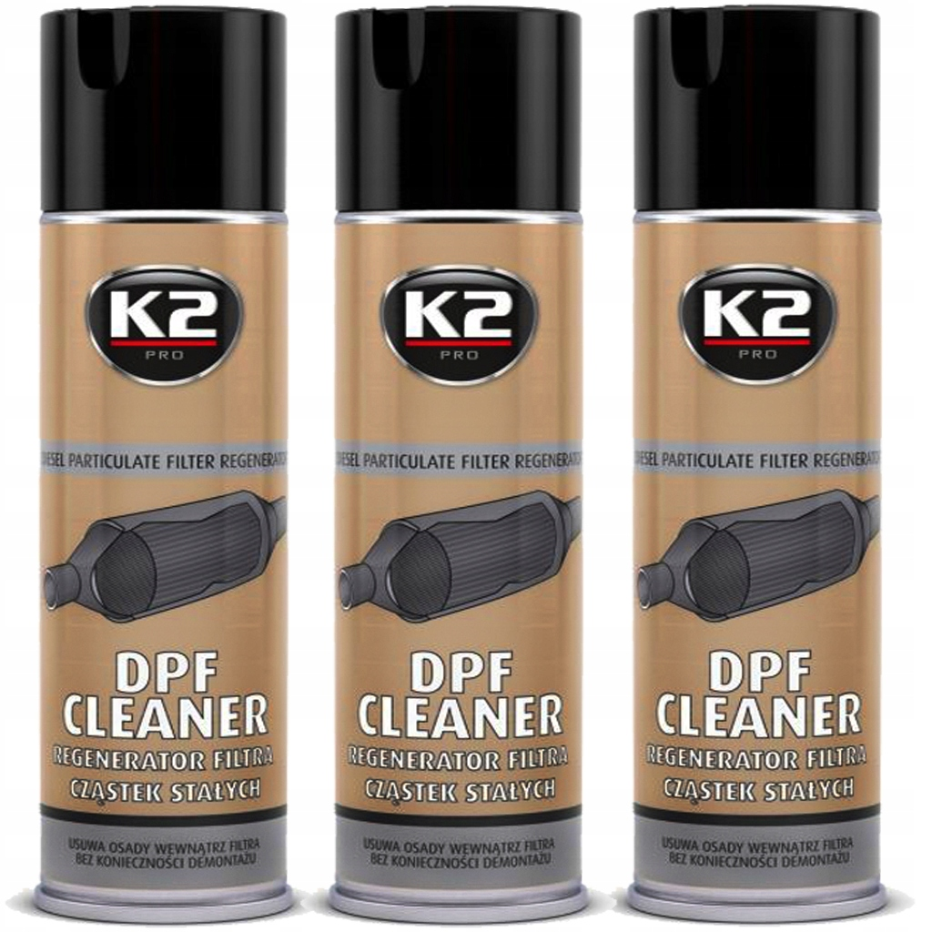 K2 DPF CLEANER REGENERATOR FILTRA DPF / FAP 3 SZT.