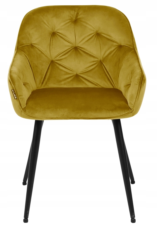 Krzesło tapicerowane Loren velvet curry Kolor obicia odcienie żółtego
