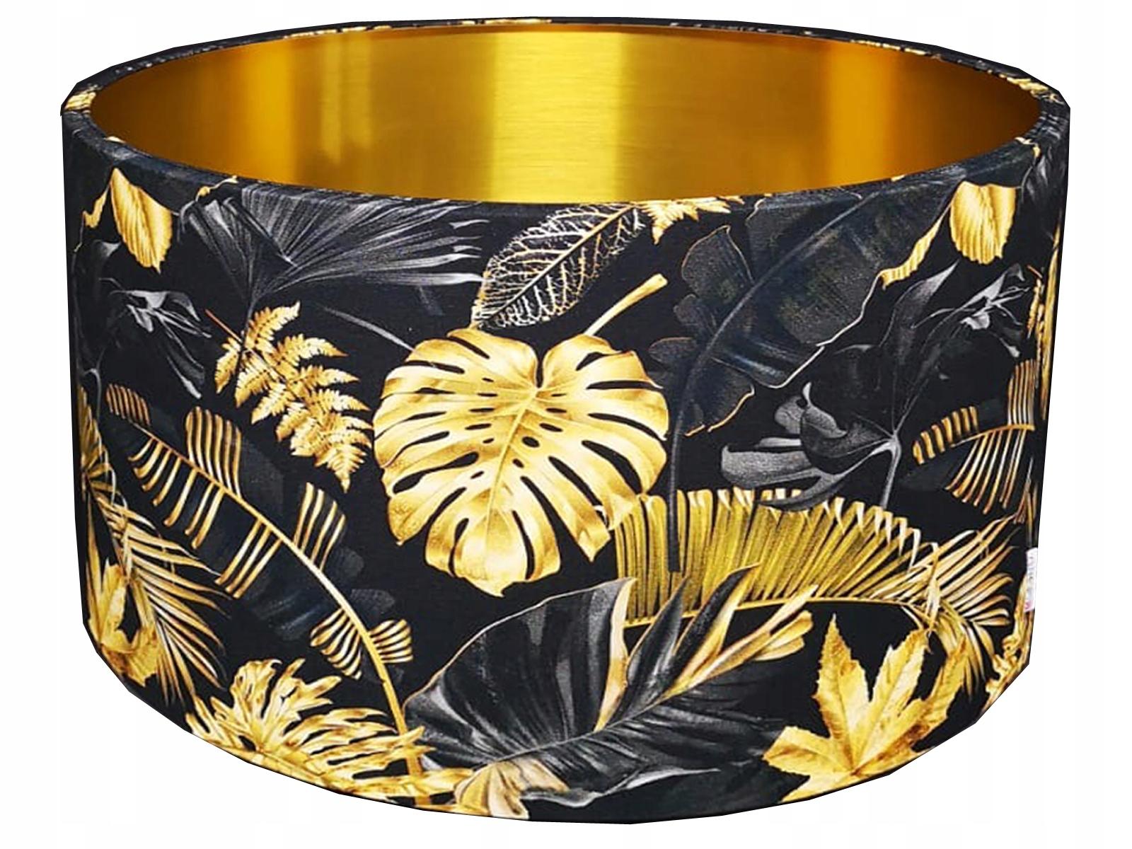 Абажур, абажур, золотые листы, цилиндр, диаметр 40 см.