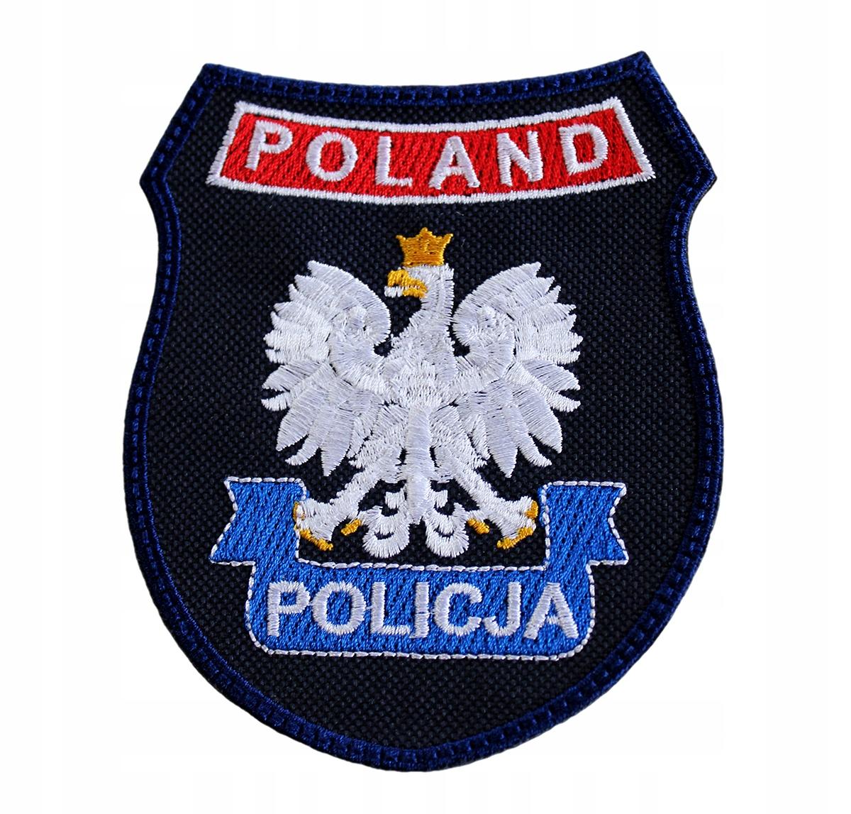 Нашивка Police Shield с Velcro Resistant HQ Poland