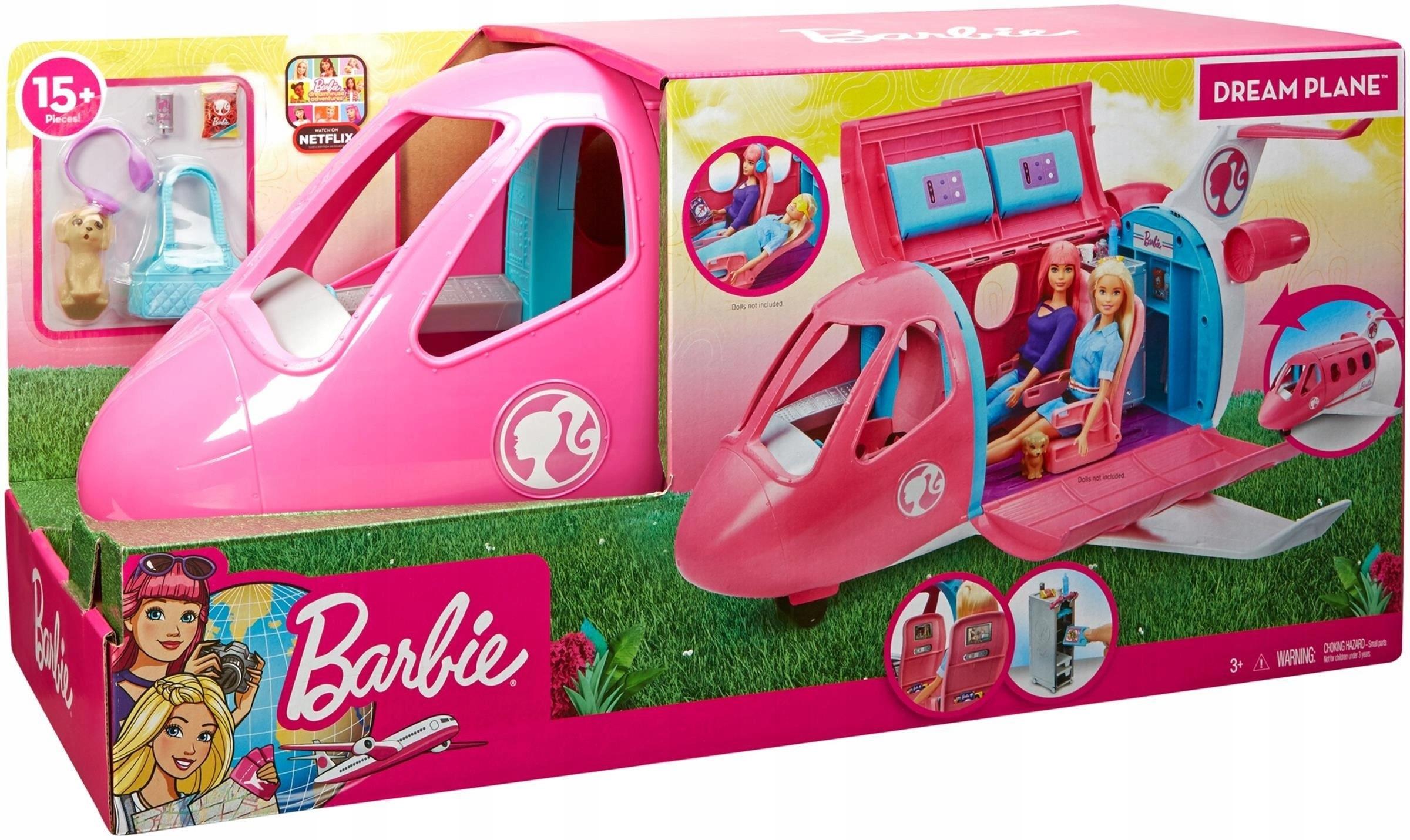 Mattel Barbie skvelé lietadlo Barbie + akc. GDG76