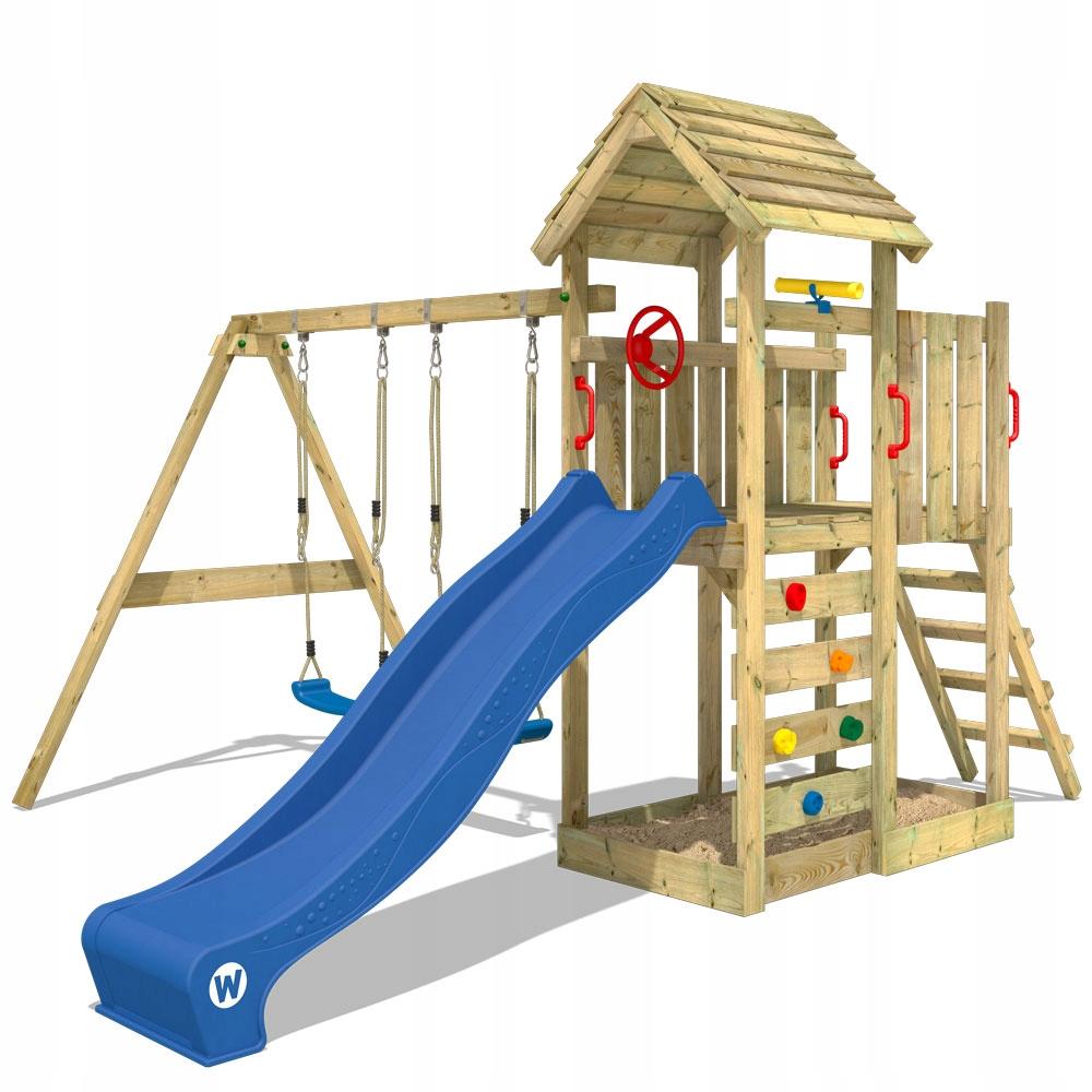 WICKEY MultiFlyer деревянный площадь игры с качелями