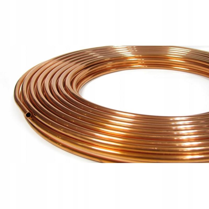 трубка труба медная fi 10 10mm провода топливные