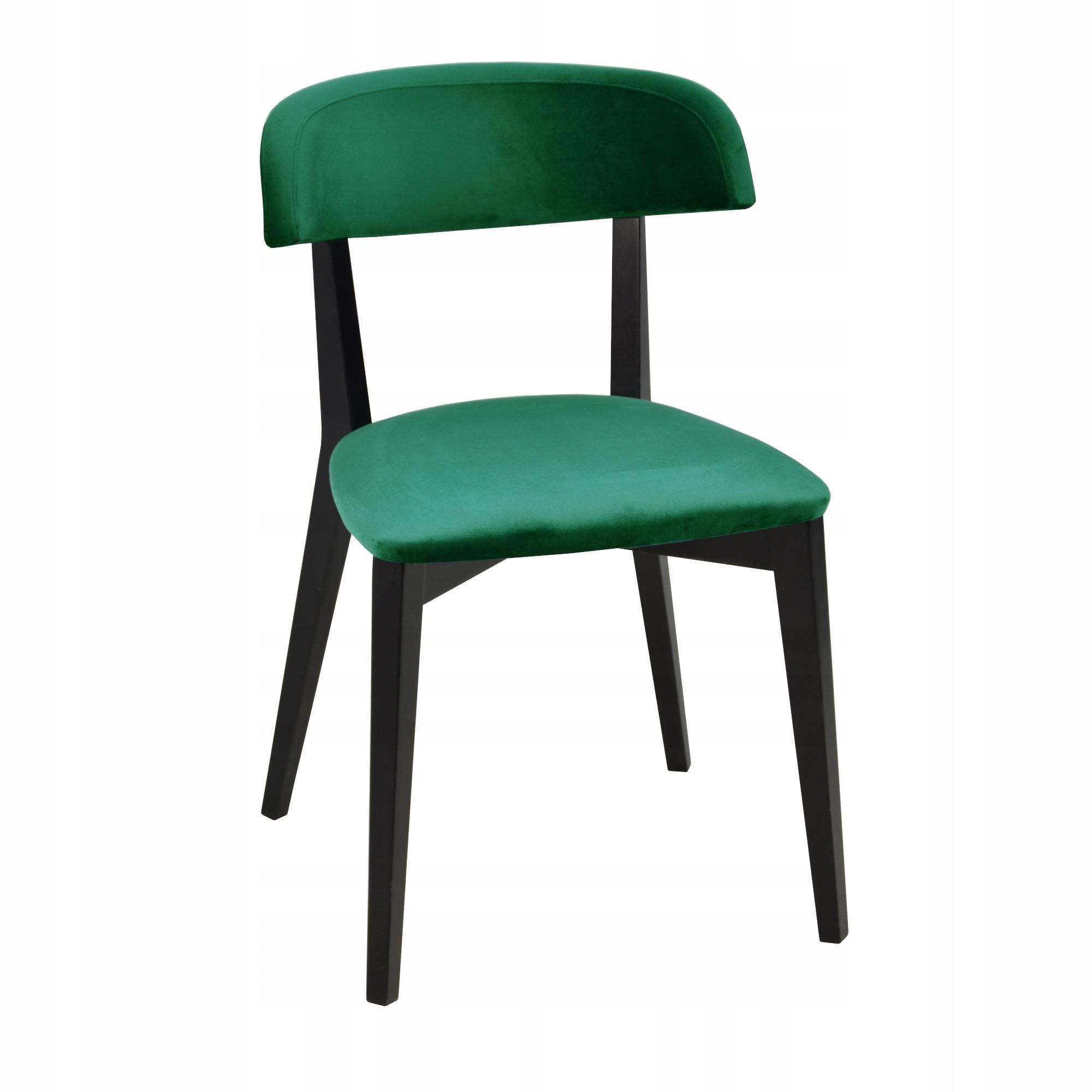 4 moderné stoličky čalúnené v EMERALD VELVET
