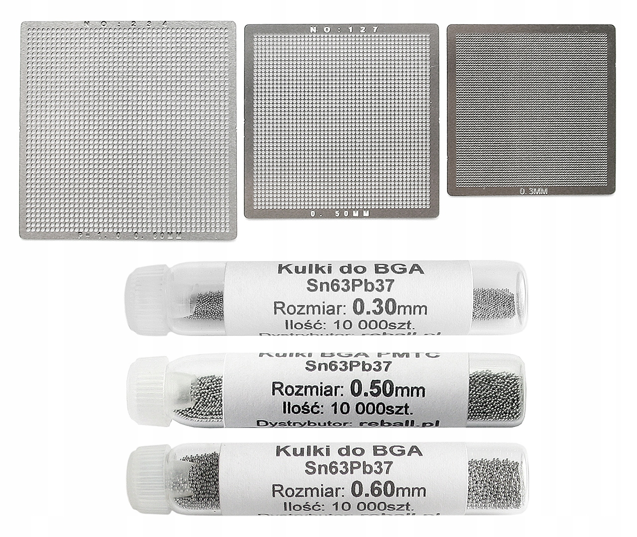 UNIVERZÁLNA OBRAZOVKA BGA 0,3 0,5 0,6mm + 3x LOPTY