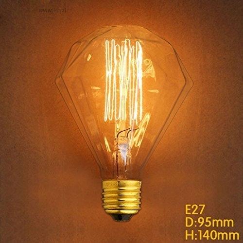 Retro vintage žiarovka EDISON 40W diamant G95