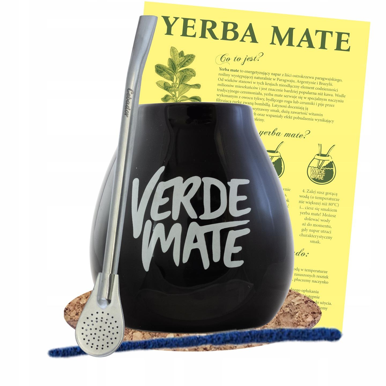 Yerba Mate Matero / Calabash + Bombilla 19см комплект
