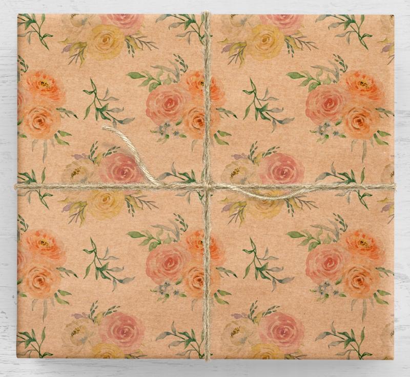 Darčekový baliaci papier Winter Roses 10ark
