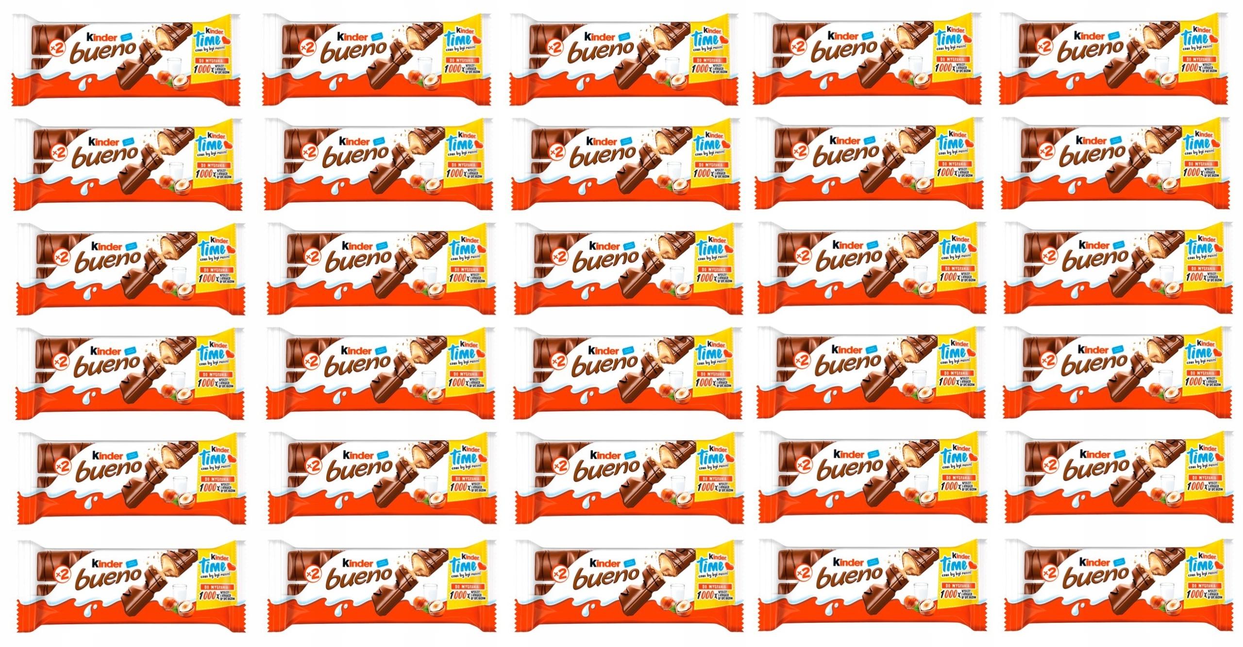 Candy bar KINDER BUENO Kinder 43 g x 30 ks