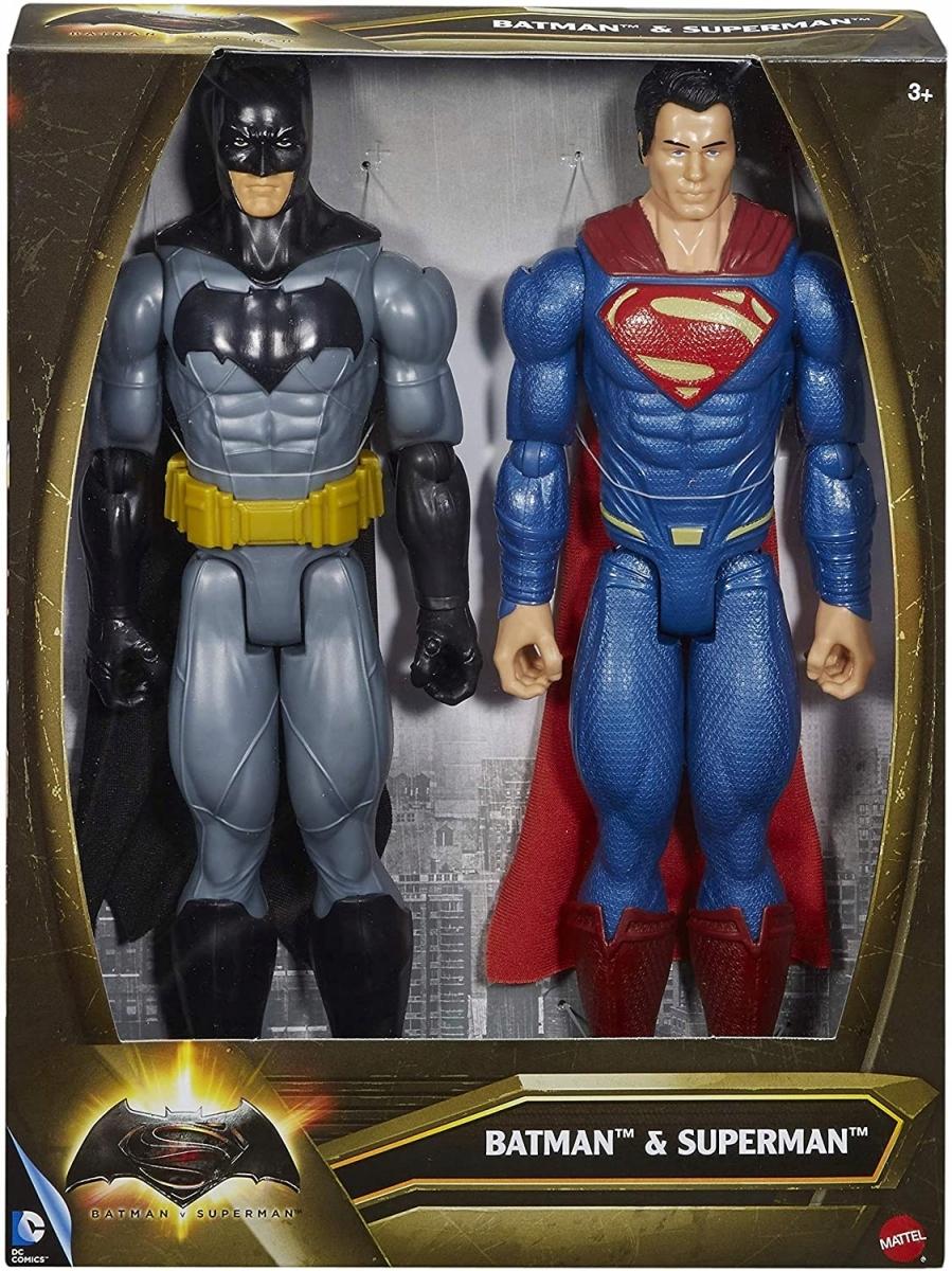 Akčné figúrky Batman a Superman 2pak Mattel DLN32