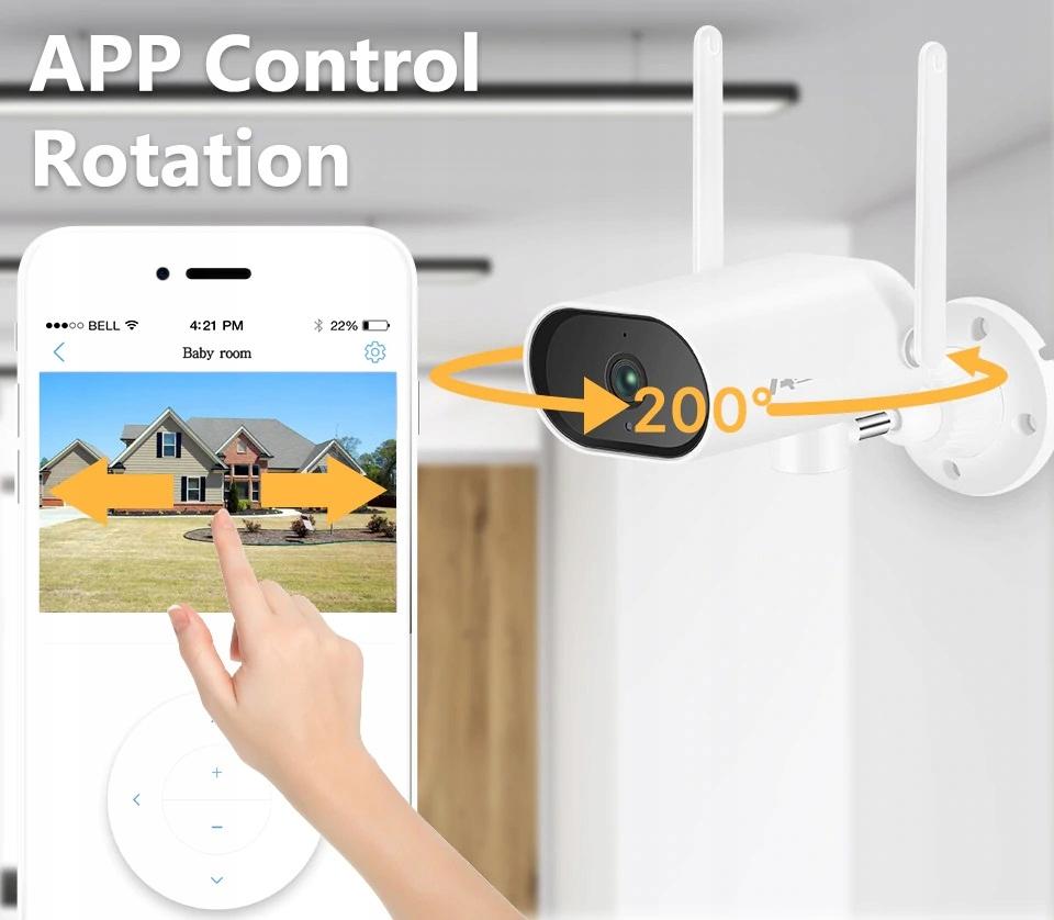 Zestaw Monitoringu 6 Kamer Zewnętrznych obrotowych Funkcje aplikacja na telefon detekcja ruchu zaawansowane wyszukiwanie inne