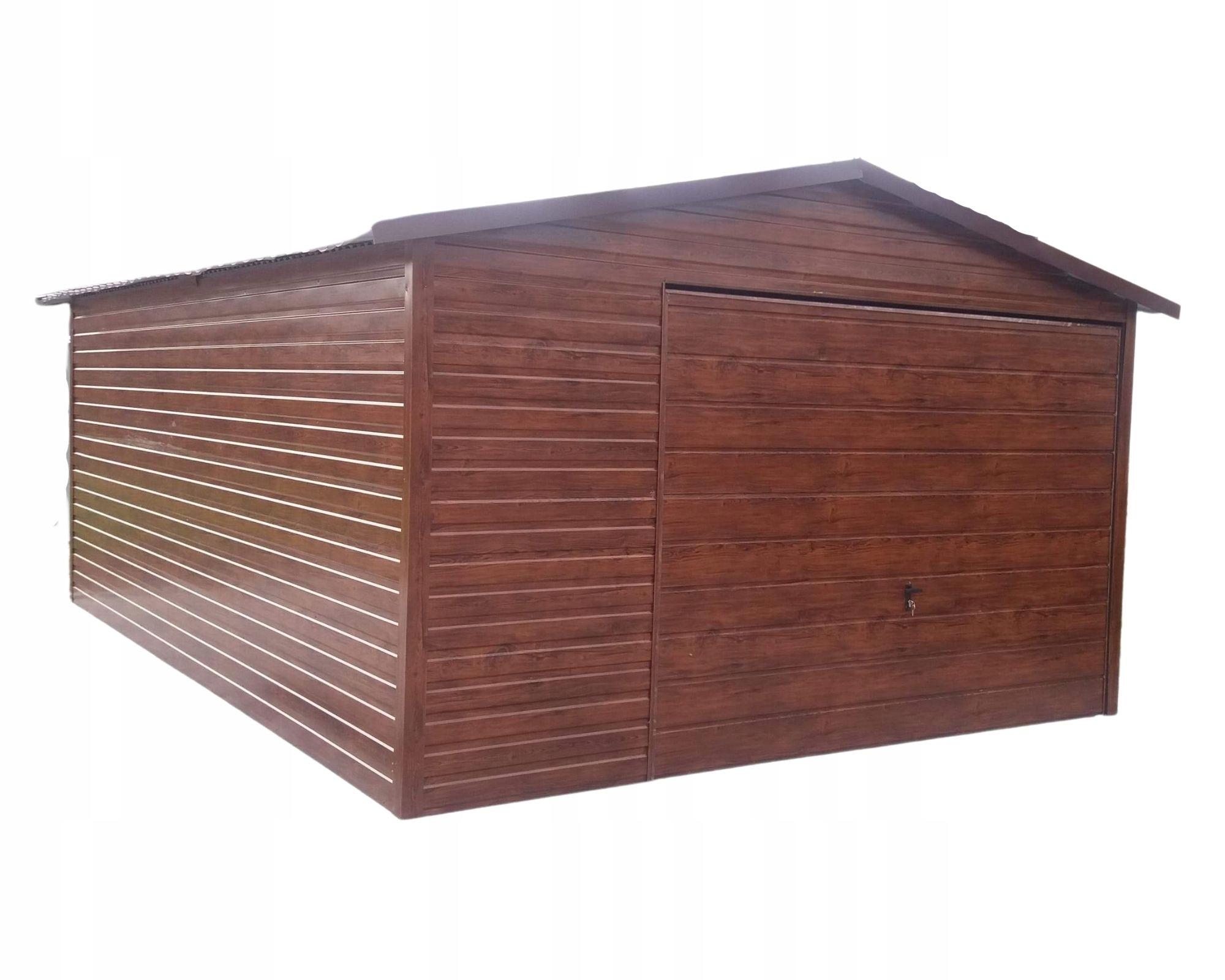Жестяные гаражи 4х6 орех золотой дуб