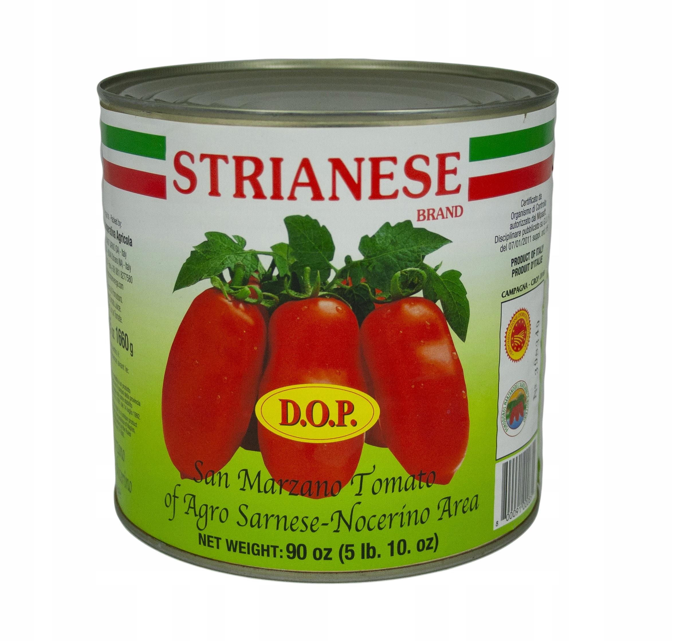 Włoskie Pomidory San Marzano całe 2,5 kg Strianese
