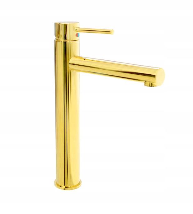BATERIA UMYWALKOWA KRAN łazienkowa złota perlator