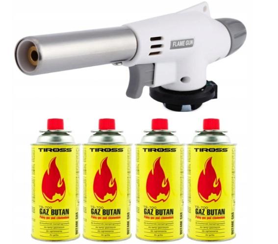 Керамическая газовая горелка + 4 газовых кассеты