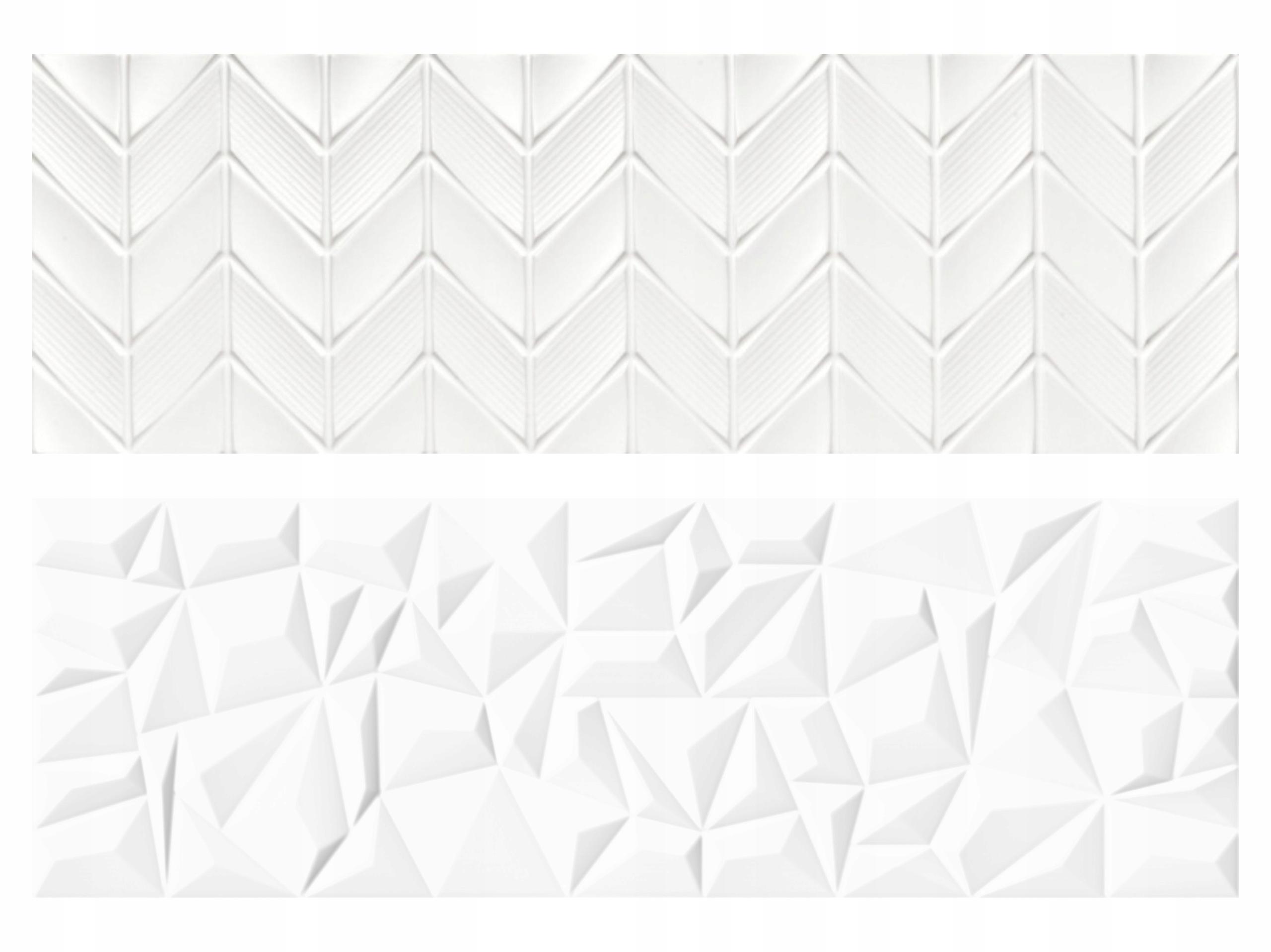 Glazura Biała Płytki Białe 3d Space Neve Satin 9224408218 Allegro Pl