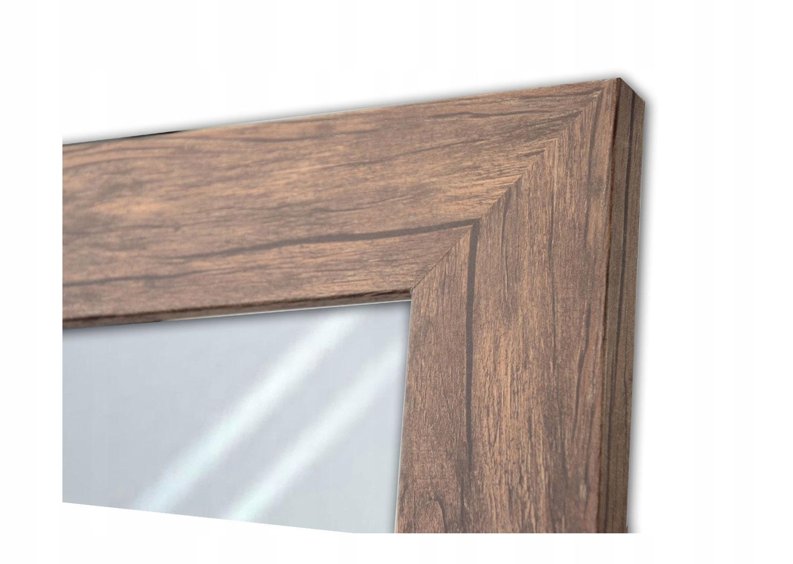 Широкое зеркало в раме 160х60 из состаренного дерева