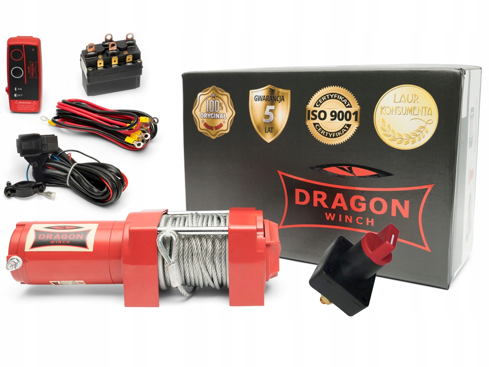ЛЕБЕДКА DRAGON DWM3500ST ЛЕБЕДКА QUAD