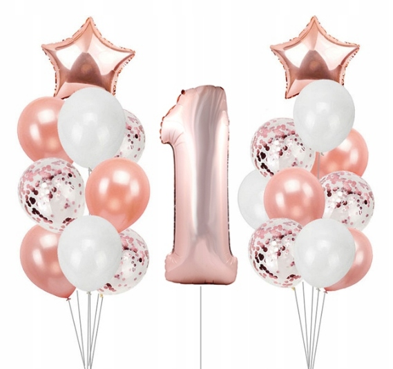 BABY KIT FIRST Birthday Воздушные шары RoseGold