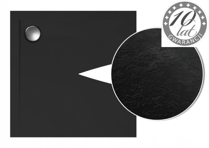 Podlahová sprchová vanička hranatá 100x100x1,5 cm, ČIERNA