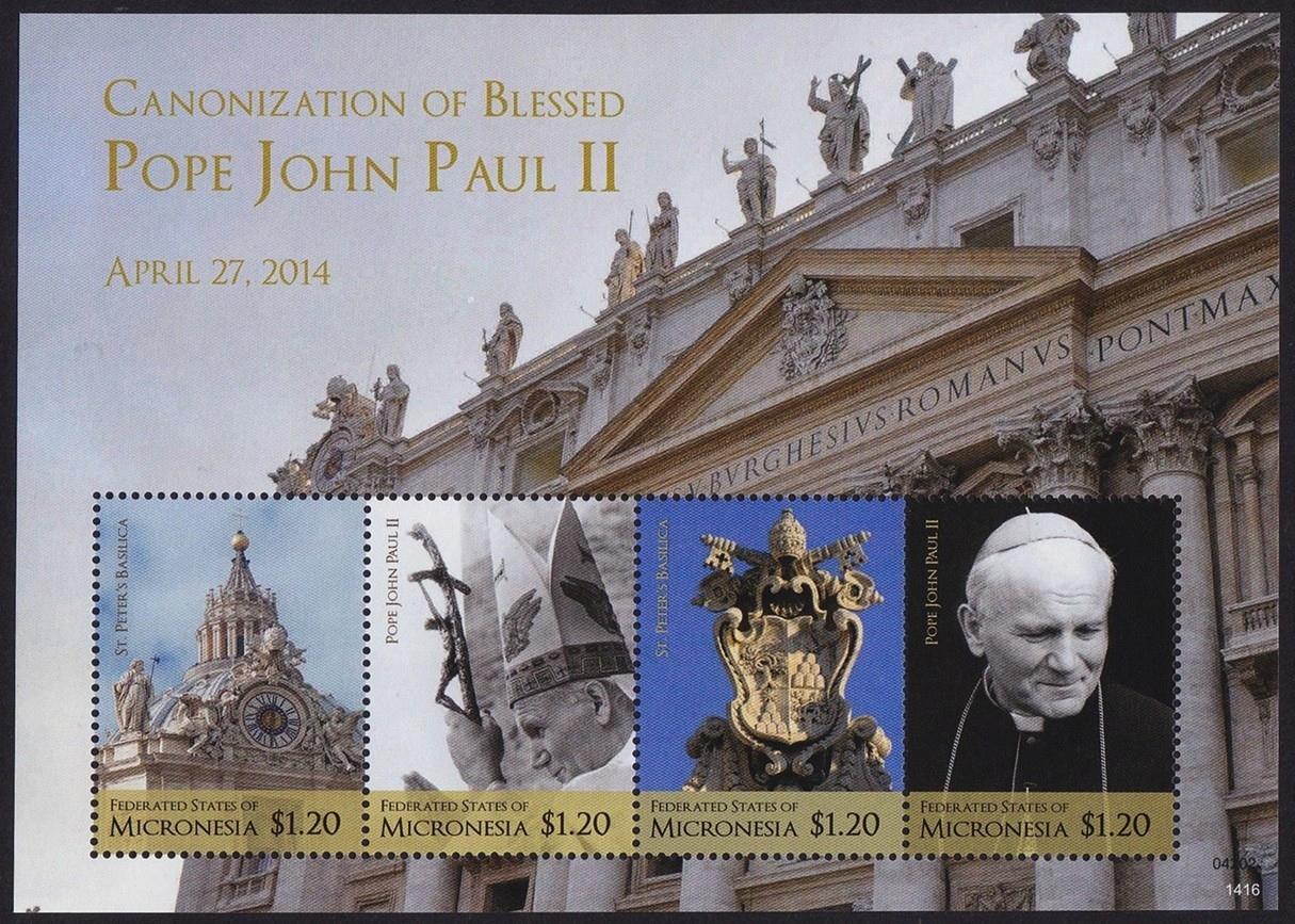 Микронезия 2014 ковчег 2569-72 ** Папа Иоанн Павел II