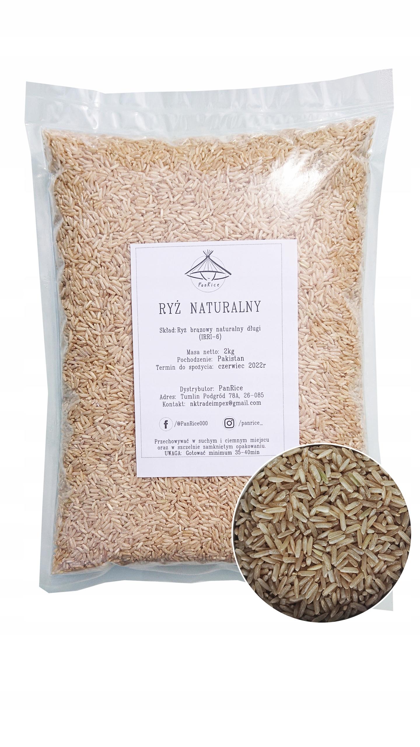 Ryż Naturalny 2kg Brązowy PREMIUM