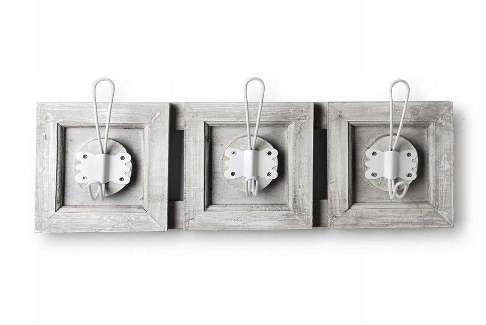 Retro dekoratívny 3-háčik na vešiak na oblečenie