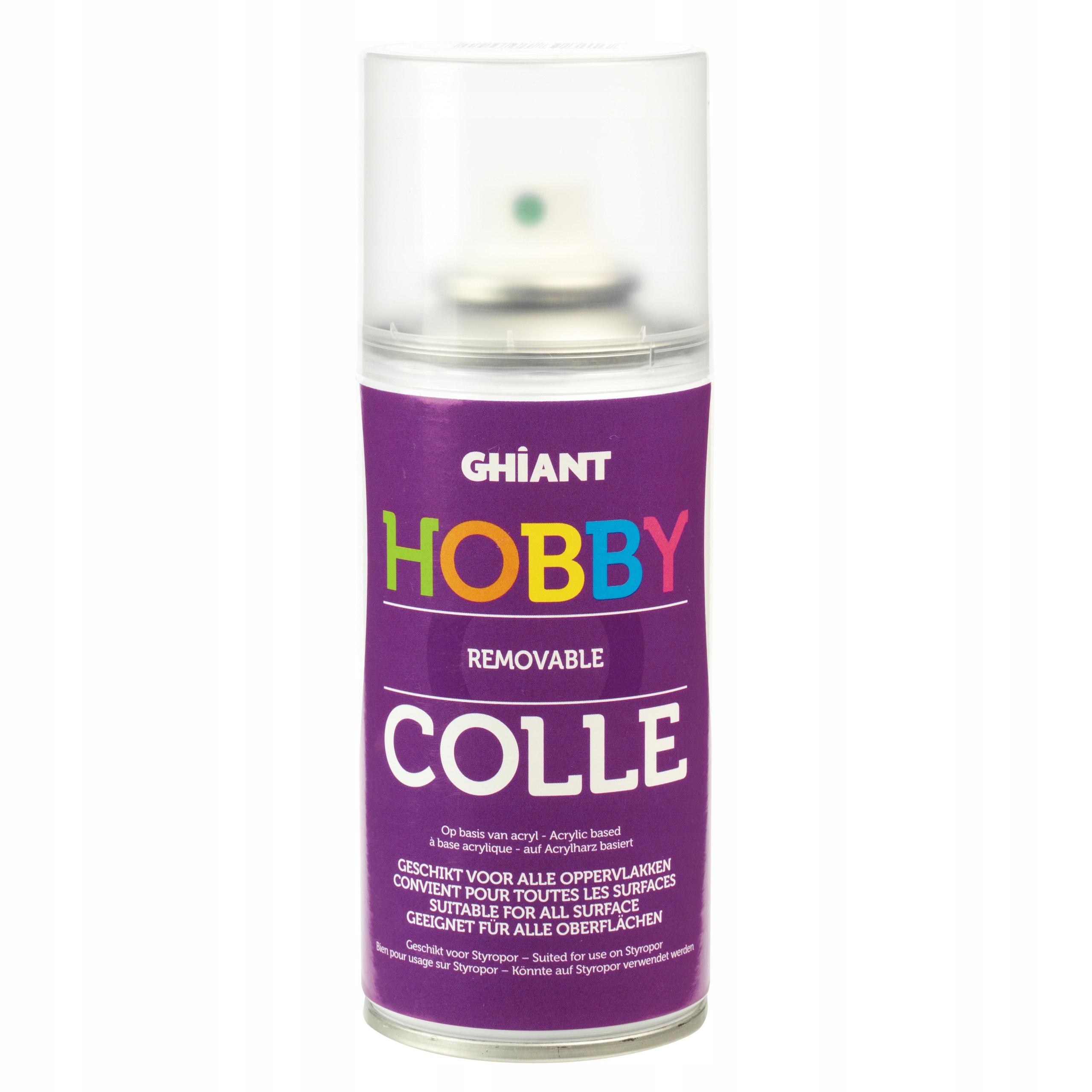 Klej w sprayu Hobby Colle - Ghiant - usuwalny
